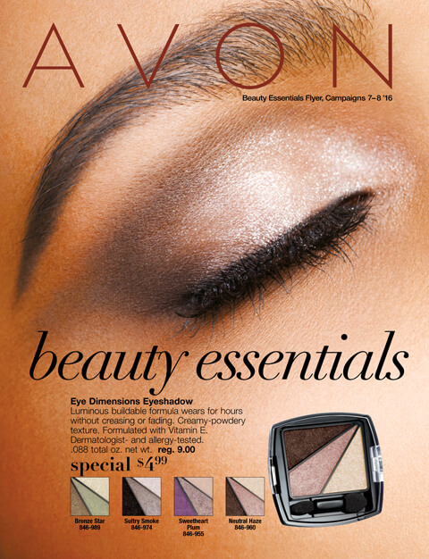 Avon Beauty Essentials 7/8 2016