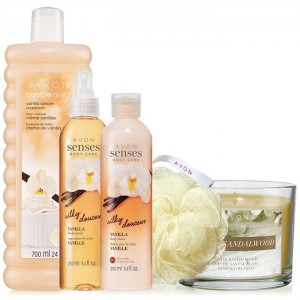 Avon Senses Silky Vanilla Collection