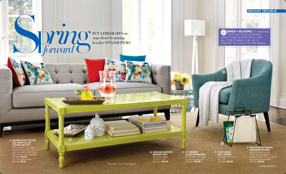 Avon Living Spring 2016 Home Decor
