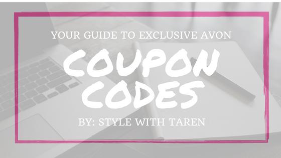 Avon Coupon Codes | Style With Taren