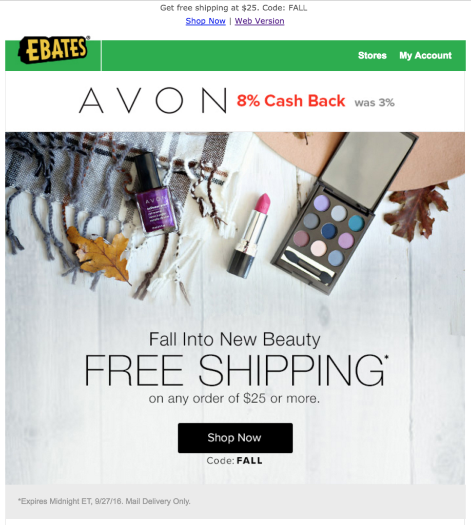 Save on Avon With Ebates