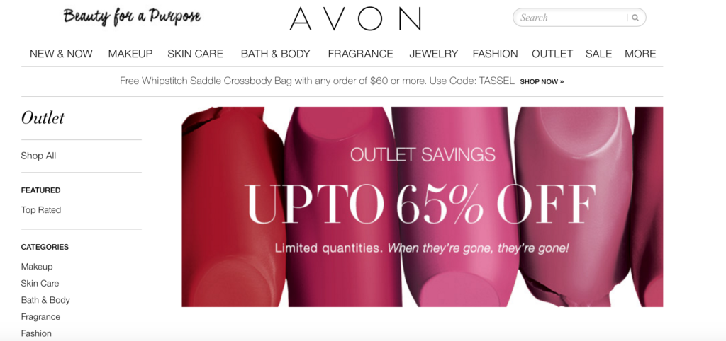 Save with Avon Outlet Sales
