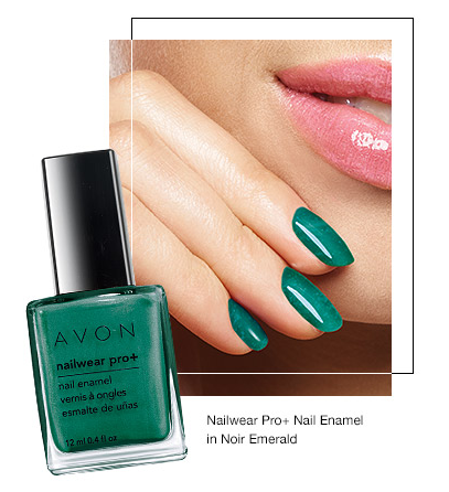 Avon Summer to Fall Makeup Minty Fresh Nails
