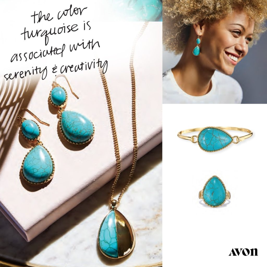 Avon Reconstituted Turquoise Collection