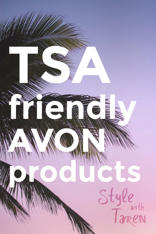 TSA friendly AVON products